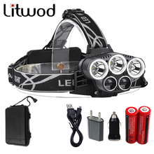 Litwod Z302309A 15000lm Led Head Lamp 3T6+2LST Alu-alloy Body Headlamp Headlight 6 Mode Head Light For 18650 Battery With Box