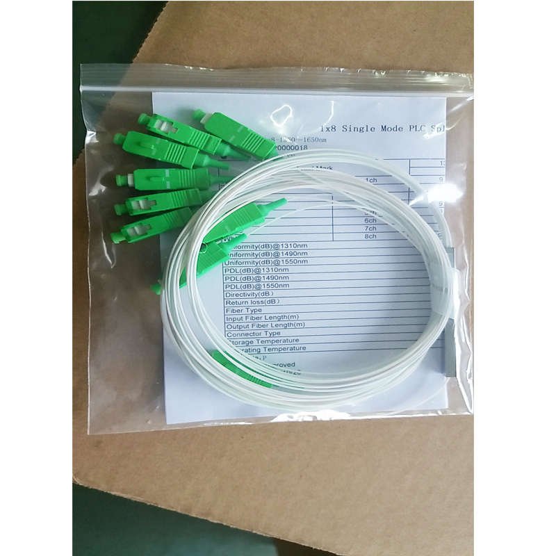 PLC Splitter patch cord adapter pigtail clean