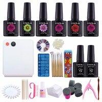 NAIL ART BASE TOOL 36W UV Lamp & 6 Color Soak Off Gel Nail Top Coat Gel Nail Polish Kit Manicure Sets & Kits Nail Polish Set