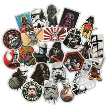 25 pics Star War Graffiti Label Stickers Home Decor Car Styling Decoration Wall Sticker Skateboard Laptop Bike Accessories 60mixed graffiti jdm stickers waterproof home decor doodle laptop motorcycle bike travel case decal car accessories car sticker
