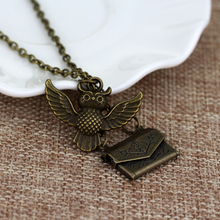 Best Long Sweater Chain Owl Locket Necklace Cheap
