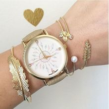 Fairly Leather-based Peacock Feather Geneva Watch For Ladies Wrist Watch Quartz Watches Watch Equipment