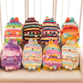 New Hot Kawaii 40cm 8 Colour Japanese Pear Wave Stripe Children Pupil Plush Soft Bag Cute Creative Backpack For Children Gifts