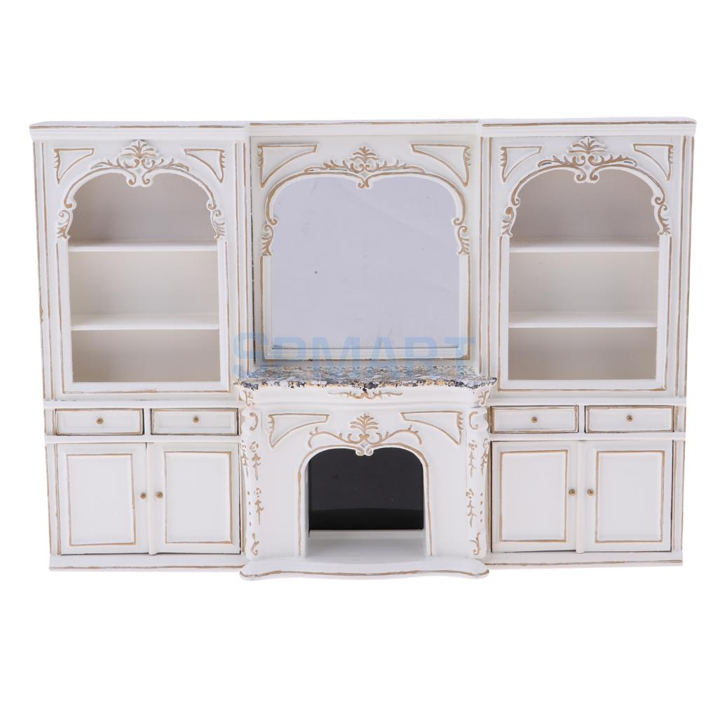 MagiDeal 1 12 Scale European Style Display Cabinet Miniature Model for Dollhouse Any Rooms Furniture Decor