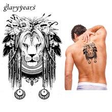 1 Piece Temporary Body Art Waterproof Tattoo Lion Butterfly Bone Pattern KM-067 Cool Women Men Flower Arm Tattoo Sticker Fashion