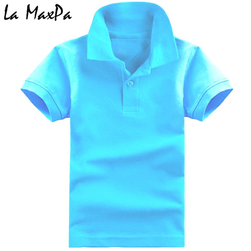 Short Sleeve Polo Shirt Kids Uniform Solid Color Green Boys Girls Size 4-16 New