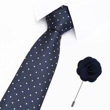 2 PCS Men Tie and brooches Set 7.5cm width Necktie Corbatas Hombre Pajaritas Cravate Homme Noeud Papillon Man