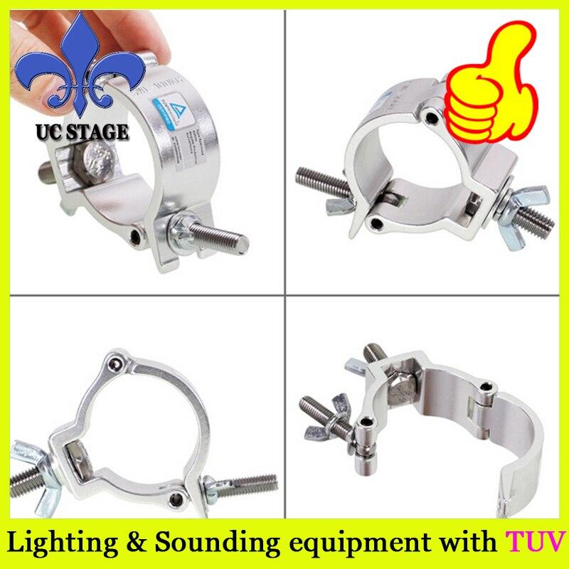 Купить с кэшбэком 50mm truss clamp/mini 360 silver truss clamp/aluminum truss clamp for lighting