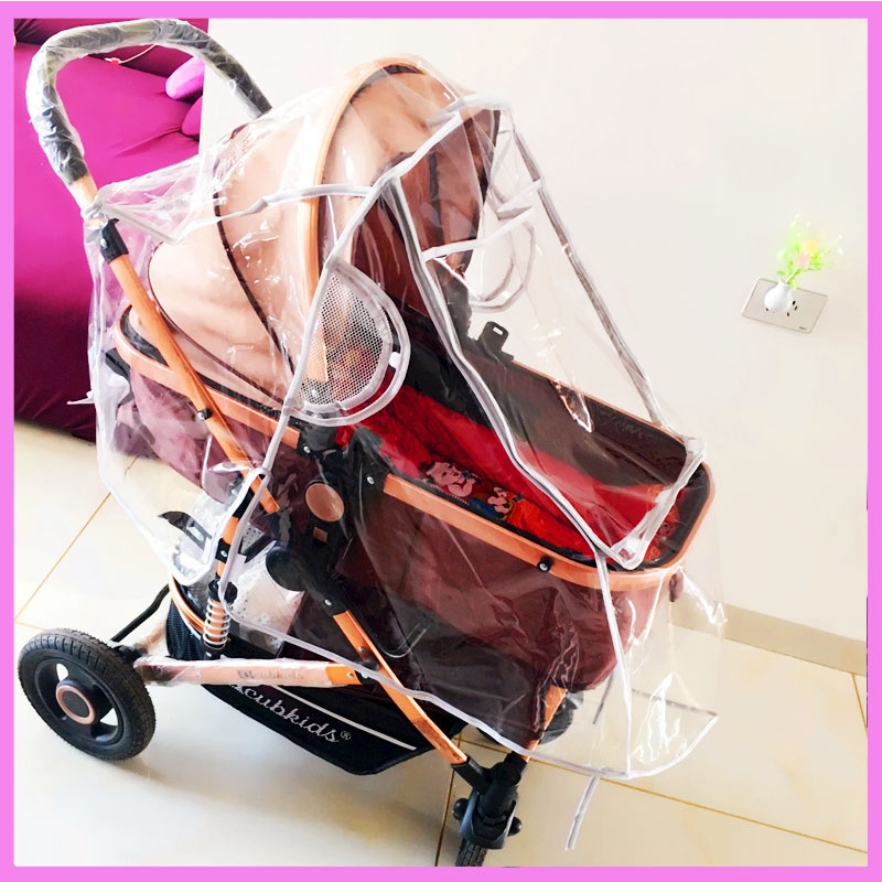 Universal Rain Cover for Stroller Baby Trolley Umbrella Car Dust Cover Waterproof Rain Cover Stroller Windshield Raincover ...