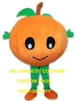 Большой оранжевый Детские Маскоты костюм с листьями здоровый фрукты тему аниме маскарадные костюмы Карнавальный нарядное платье комплект
