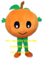 Big Orange Baby Mascot Costume with Leaves healthy fruit theme anime cosplay costumes carnival fancy dress kits suit 2505