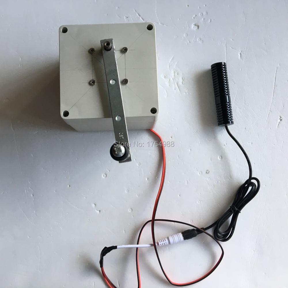 Jeu d'évasion de pièce prop utiliser un générateur électrique créer de la puissance pour la lumière laser tirer sur la cible pour débloquer la chambre d'évasion
