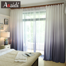 Gradient Color Curtains For Bedroom Tulle And Curtains For Living Room Window Modern Blackout Curtains Hotel Decor 75% Shading
