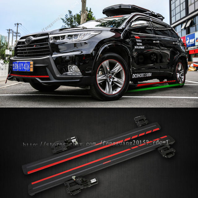 For Toyota Highlander Electric Running Board Side Step Bars Pedal 2017 17