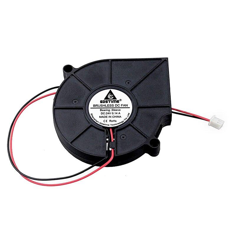 5Pcs Gdstime 7515 24V 2Pin 75mm x 15mm PC Computer Case Cooling Cooler DC Blower Fan