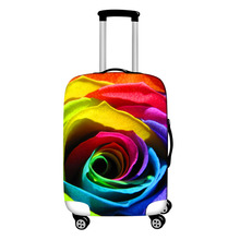 "Фотография Fashion Travel Suitcase Cover For 18-28"" Trolley Rolling Luggage Bag Rose Print Carry On Suitcase Protective Covers"