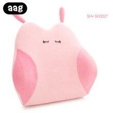 цена на AAG Cute Cartoon Lumbar Support Cushion Memory Foam Head Neck Back Waist Pillow Soft Plush Home Office Car Seat Waist Cushion