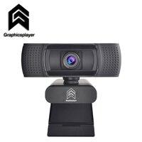 Webcam 1080P HDWeb Kamera mit Gebaut-in HD Mikrofon 1920x1080p USB Stecker Web Cam