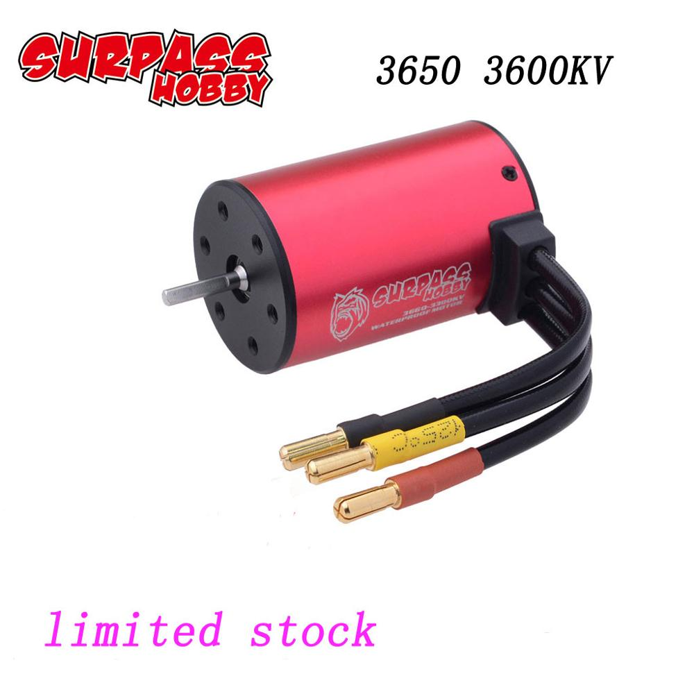 Image 2 - Big Sale SURPASS HOBBY Waterproof 3650 3600KV Brushless Motor for 1:10 GTR/Lexus RC Drift Racing Off road Car-in Parts & Accessories from Toys & Hobbies