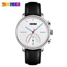 SKMEI Business Men Watch Quartz Top Brand Luxury Mens Watches Leather Strap Men's Wrist Watch Clock Male relogio masculino 1399 цена и фото