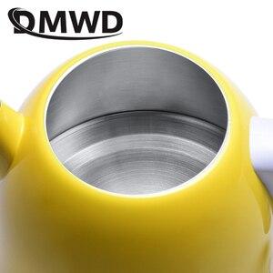 Image 3 - DMWD ฉนวนกันความร้อนไฟฟ้ากาต้มน้ำร้อนความร้อนหม้อไอน้ำหม้อสแตนเลส 1L Mini Travel กาน้ำชาอุ่นนมอุ่น EU