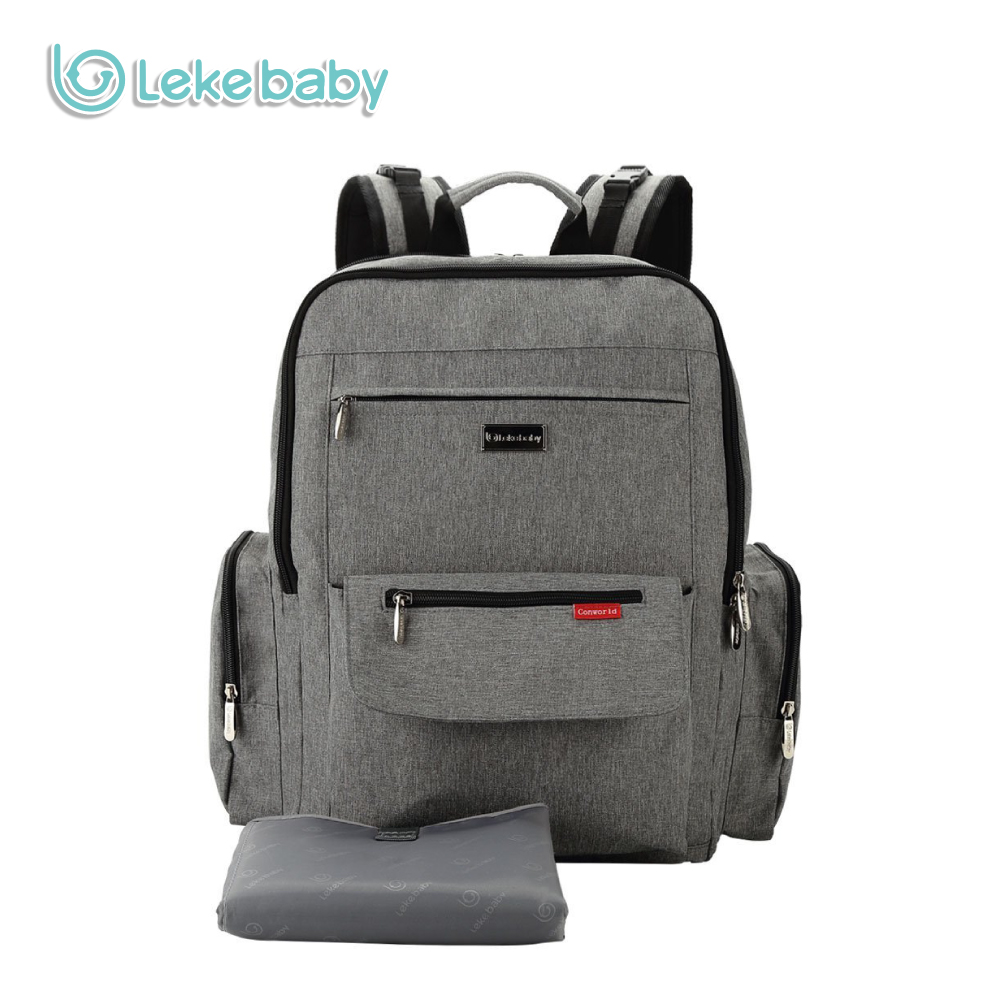 Lekebaby однотонные пеленки сумка рюкзак мешок папа высокое Ёмкость детские пеленки сумк ...