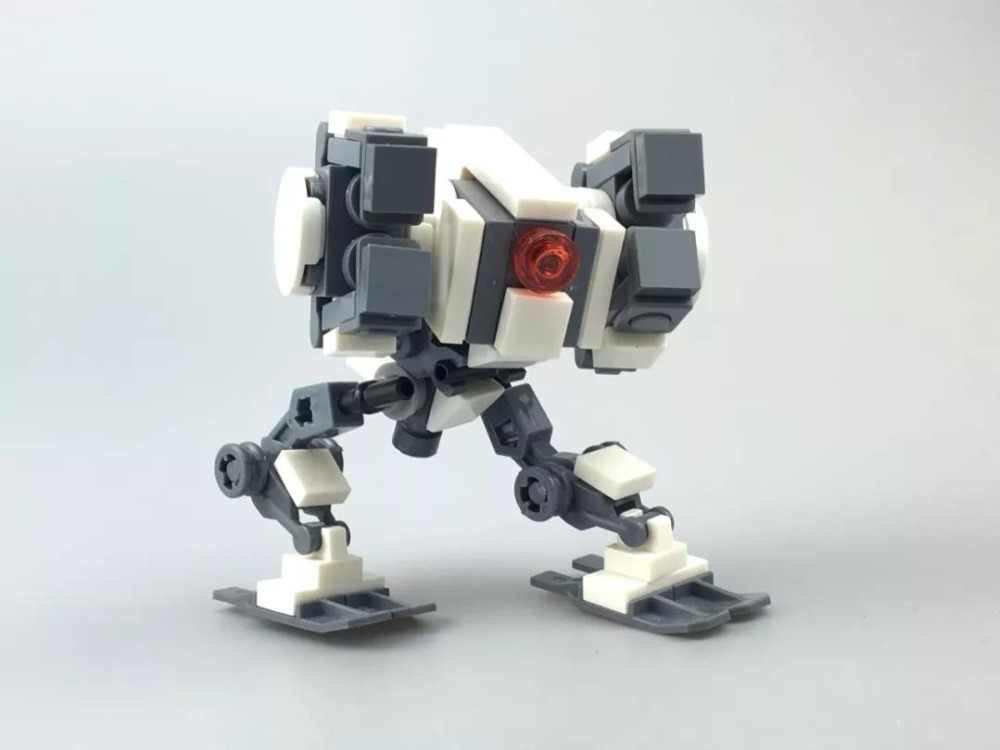Blocks MOC Small Mecha  Iron and steel team  Robot Compatible Legoelys Toys