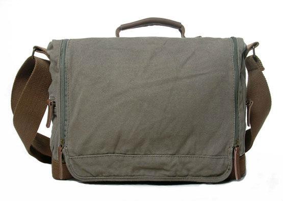 255eccdad876 Thick canvas shoulder bag Sling Bag Men s Messenger Shoulder Bag laptop bag  leisure bag Handbag 121 2 palm green-in Crossbody Bags from Luggage   Bags  on …