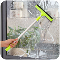 Telescopic Cleaning Tools Double Sided Glass Wiping Glass Cleaning Brush Wipers Long Handled Glass Scraper