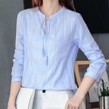 Ladies Cotton Shirt Women Blouses Fashion Slim Plus Size XXL Long Sleeve Stand Lace-up White Shirts Office Casual Blusa Feminina