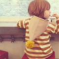 New Arrive Spring Autumn Hoodies Sweatshirt Coat Kids Long Sleeve Casual Outwear Striped Girls Hoodies Baby Clothing