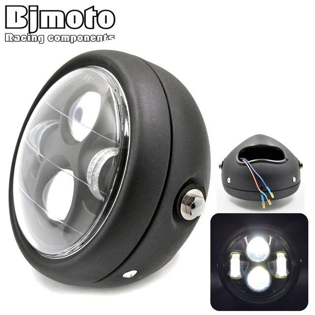 "Universal Round 6 1/2"" Aluminum Motorcycle Headlight LED Hi-Lo Beam Motorbike Lamp Phare Moto For Harley Honda Yamaha Kawasaki"