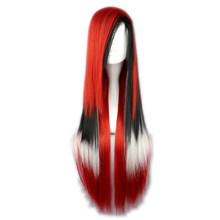 Soowee 11 Colors 70cm Straight Synthetic Hair Ombre Cosplay Wig Black White Red Synthetic Hair Wigs Peruca(China)