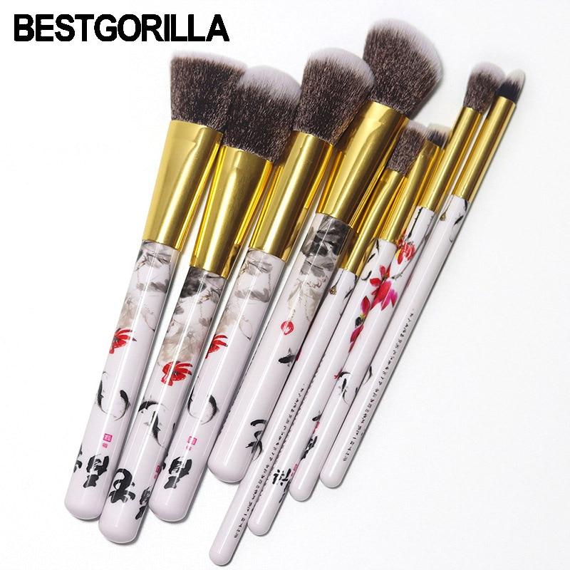цены на Professional Fashion 8pc Ink painting makeup brush Beauty tools 8 makeup brush Sets Cylinder Gradient handle eyebrow brush в интернет-магазинах