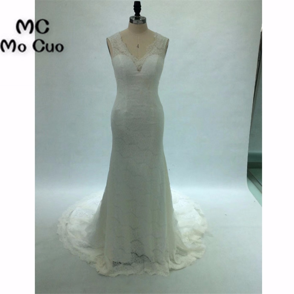 Real 2018 New Mermaid Gown Wedding Dresses Bridal Gowns Sleeveless ...