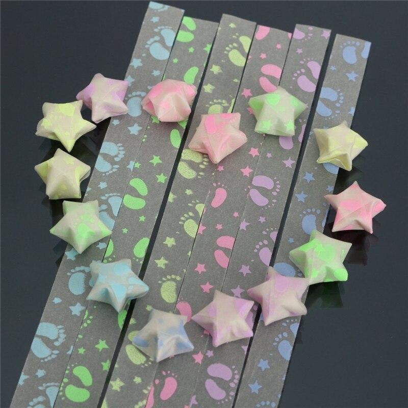 30pcs lot diy lucky folding paper stars luminous footprint for Diy lucky stars