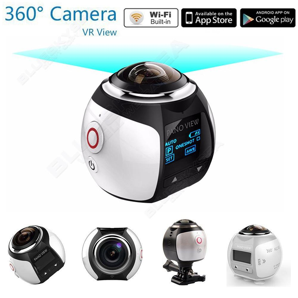 BOBLOV 4K 360 Degree Wifi Panoramic Camera Ultra HD 2448 2448 Sport Action Driving VR Camera