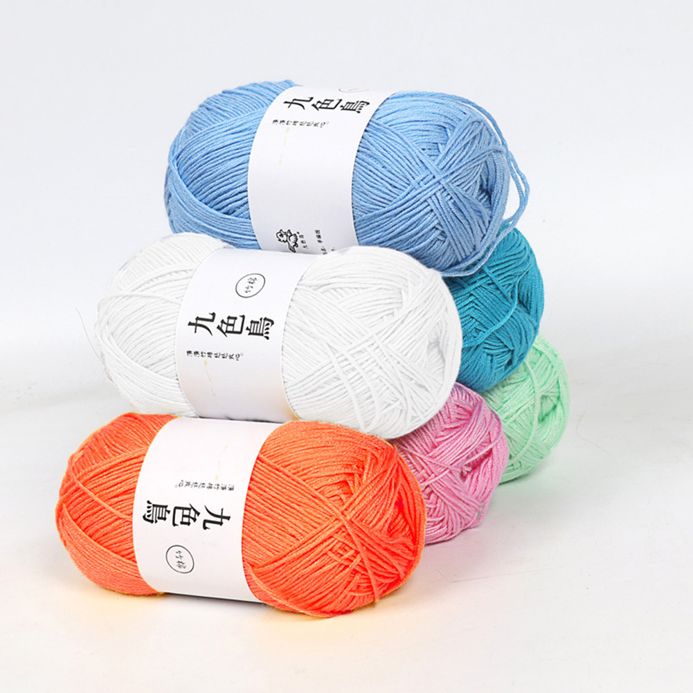 50g Yarn For Knitting Wool Yarn Crochet Yarn Blanket Sweater Scarf Milk Cotton Yarn Hand Kitting  DIY Sewing Accessories Lanas