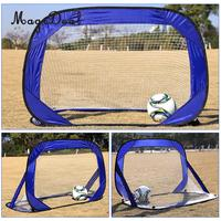 Kids Small Size Portable Soccer Goal Football Gate Outdoor Sport Training Toy Blue