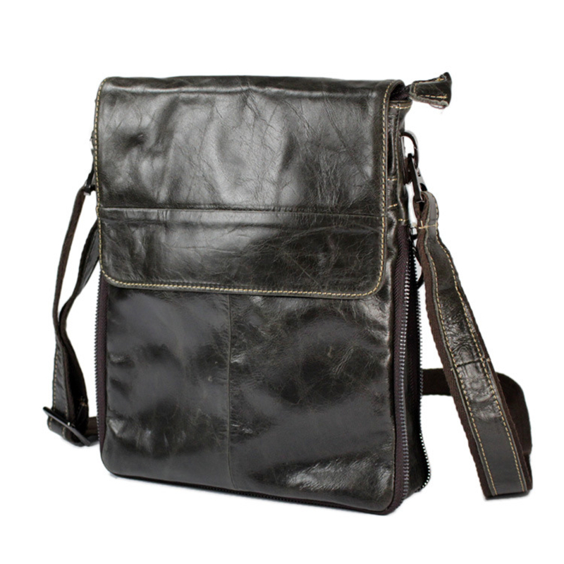 female men's pad genuine Oil wax greased leather cowhide travel crossbody Shoulder hand messenger tote shopping fashion chic Bag
