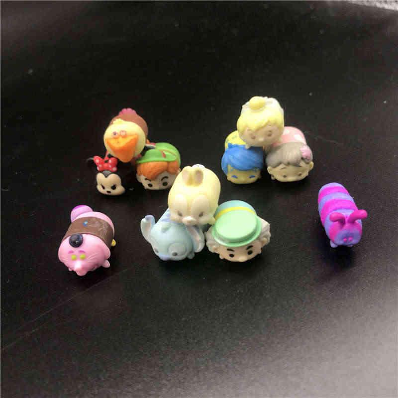 Anime Brinquedos Lote aleatório Mini Bonito Minnie Mickey Mouse Winnie Dumbo brinquedo Figuras PVC Bonecas Para Presentes Chirldren