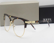 DOWER ME Retro Fashion Unisex Myopia Eyeglasses Black Leopard Optical Reading Eyewear Frame Vision Protection Eyeglass SY505