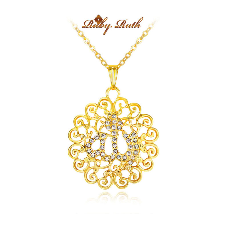 Allah gorjuss islam muslim fine jewelry necklace gold color allah gorjuss islam muslim fine jewelry necklace gold color necklaces pendants pendant fashion crystal islamic jewellery in pendants from jewelry aloadofball Image collections