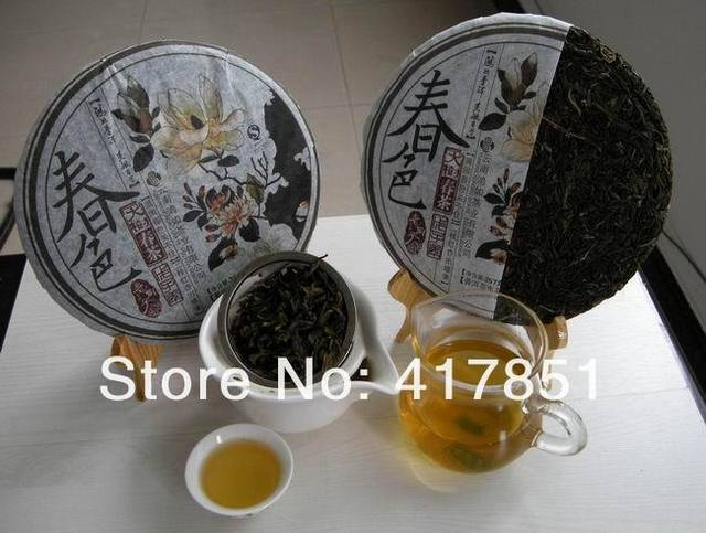 organic Pu'er  is made by handcraft from 100% material  as raw wild old arbor puer tree.  ( only 5 left in stock)
