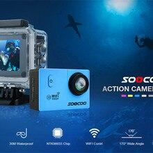 Спортивная камера SOOCOO, 30 м, Водонепроницаемая мини-камера Pro, велосипедная видеокамера, Спортивная камера Wifi HD 1080 P, ЖК-Мини-камера 170 широкоугольный объектив