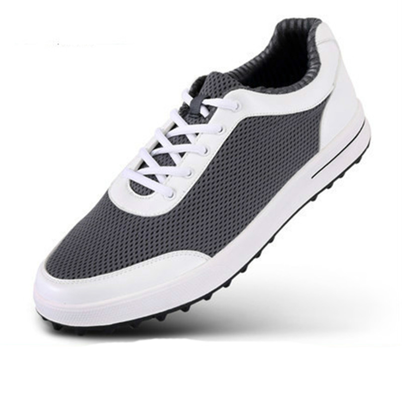 2017 New Professional Lace-up Anti-skid Golf Shoes Men Super Lightweight Flexible Comfortable Breathable air mesh Sneakers kelme 2016 new children sport running shoes football boots synthetic leather broken nail kids skid wearable shoes breathable 49