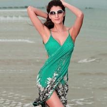 Sarong Bikini encubrimientos Nuevo de Las Mujeres de Playa Vestido de la Honda Sexy Vestido de Ropa de Playa Pareo Faldas Toalla Abierta-espalda del traje de Baño