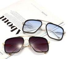 2017 Factory outlet New men yurt European and American metal frame glasses plain mirror Korean manufacturers sunglasses