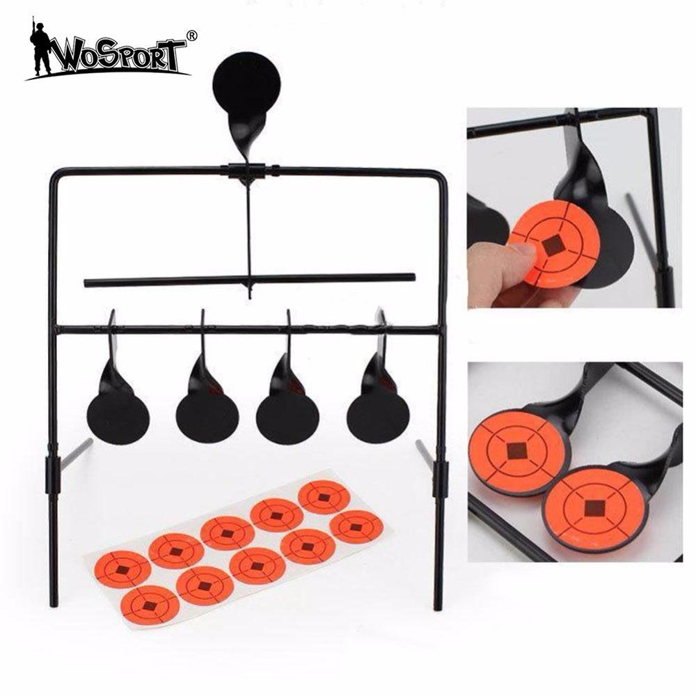 WoSporT 5-Plate Reset Schiebscheiben Taktische Metall Stahl Shooting Target for Airsoft Paintball Practice Outdoor & Indoor