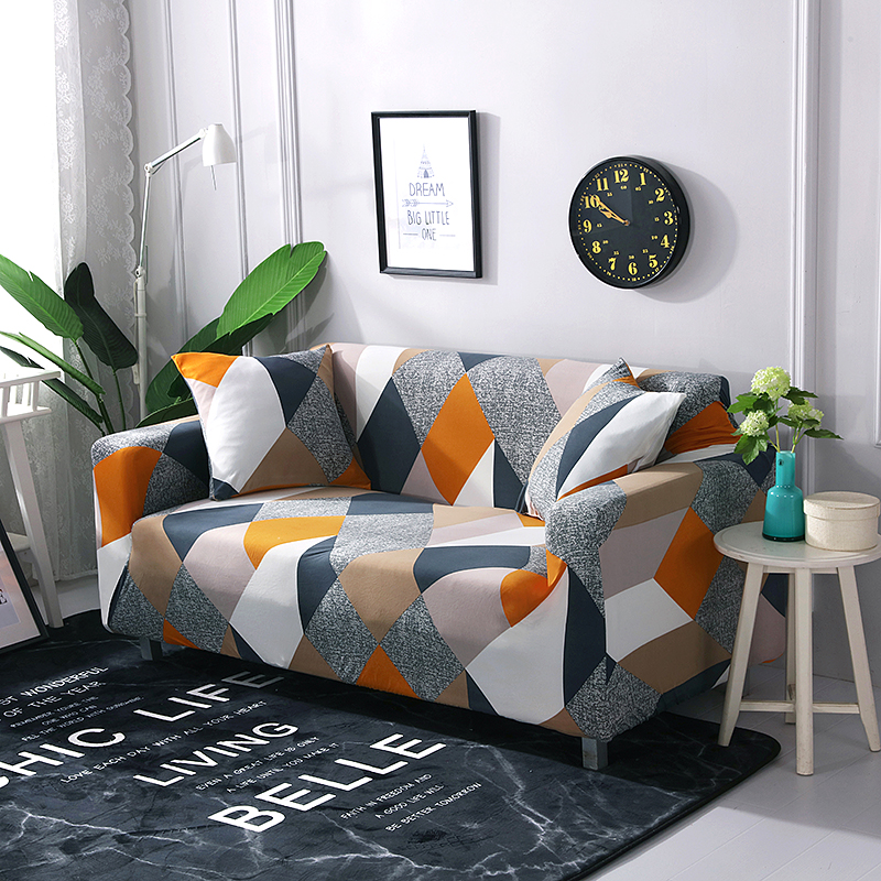 Spandex Printing Sofa Cover Modern Elastic Polyester Couch Cover Chair Furniture Protector Sofa Slipcovers For Living Room
